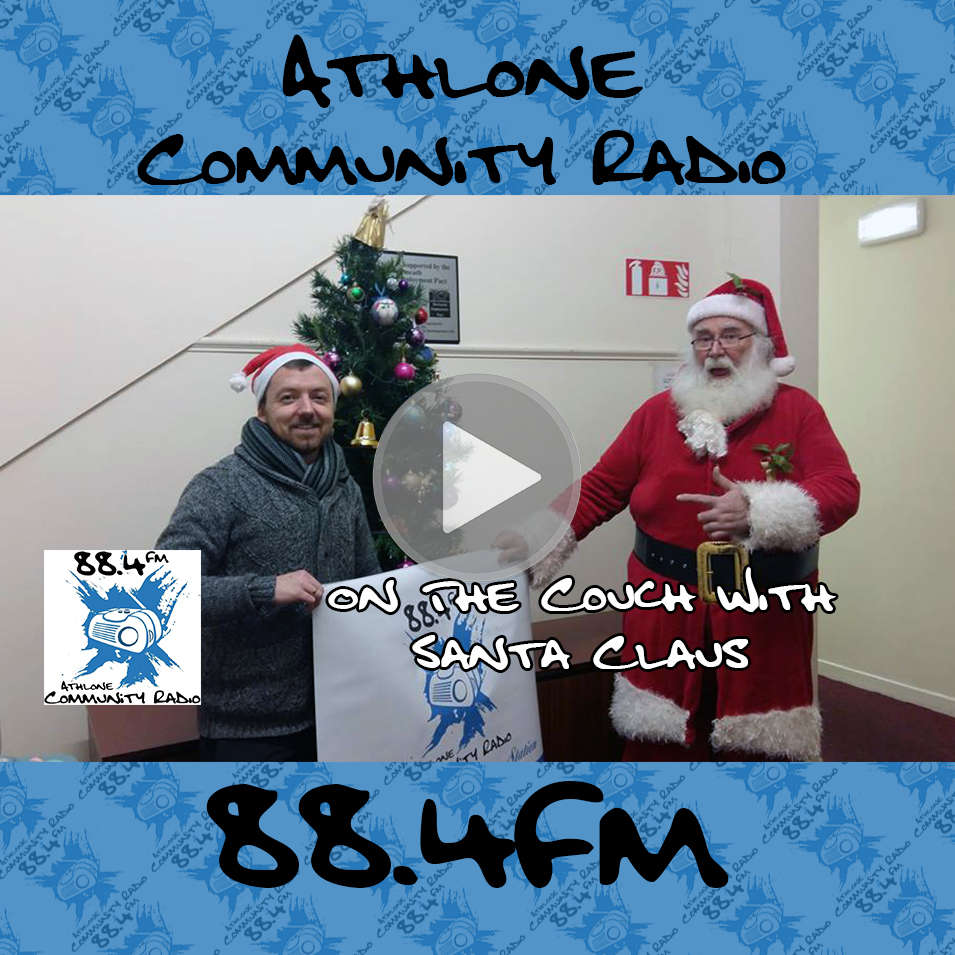 Podcast on the couch with santa claus athlone