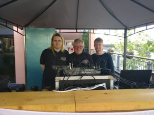 Cathal McCormack, Colin Burke & Richard Breen all from Athlone Community Radio making sure everything is running smoothly