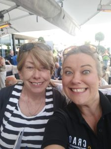 Mary Lennon (Athlone Community Radio Manager) & Martina O'Brien (Craol Project Coordinator) all smiles enjoying the sun.