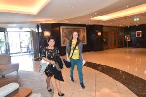 Catherine & Natasha Kenny (Athlone Community Radio Volunteer) heading into the Radisson Hotel for the Outside Broadcast.