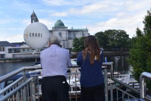 Bernie Kearney & Niamh Loftus relaxing beside the Craol Balloon enjoying the view.