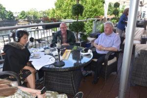 Tommy McCabe & Bernie Kearney (Ros FM Chairman) take the hot seat next.