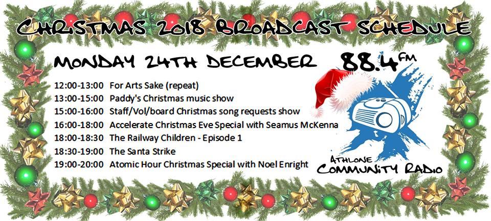 Athlone Community Radio Christmas Schedule