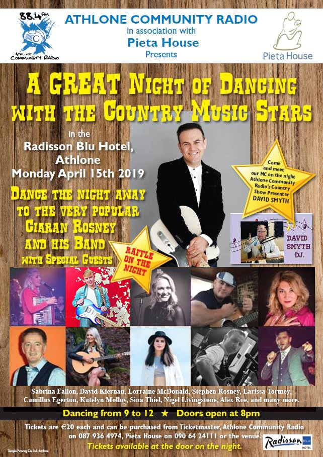 A night of country music with the stars - Athlone Community